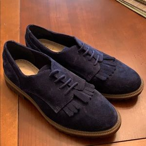 Clark's Griffin Mabel Navy Suede